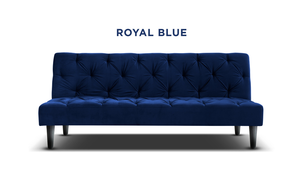 Royal blue   campbell velvet sofa bed   web1