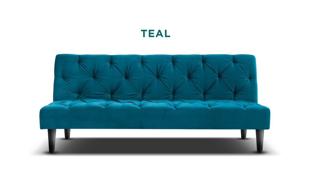 Teal   campbell velvet sofa bed   web1