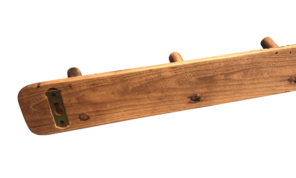 Recycled pine wooden coat rack   web3