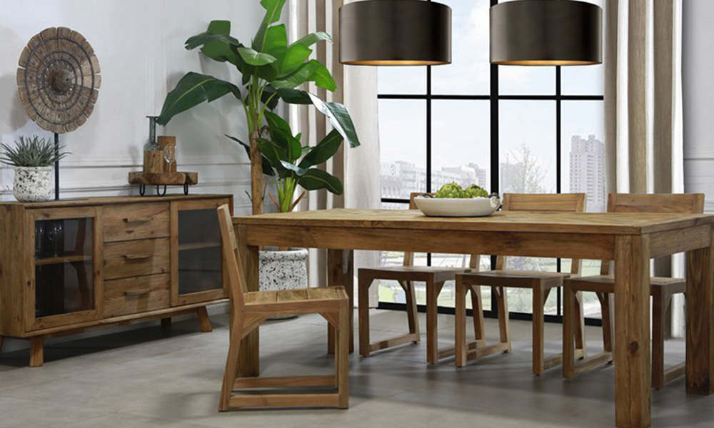 Grenier 200cm dining table  recycled pine   web2