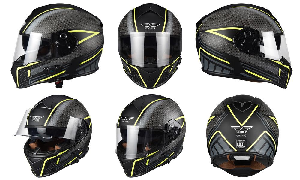 Yellow black   motorcycle full face helmet   web1