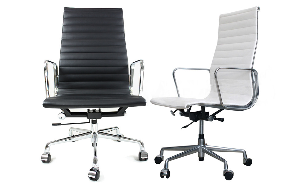 Black   white   replica eames high back office chair   1333  web1