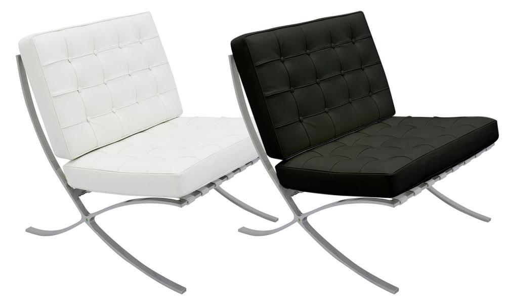 Black   white replica barcelona chair   466  web1 %281%29