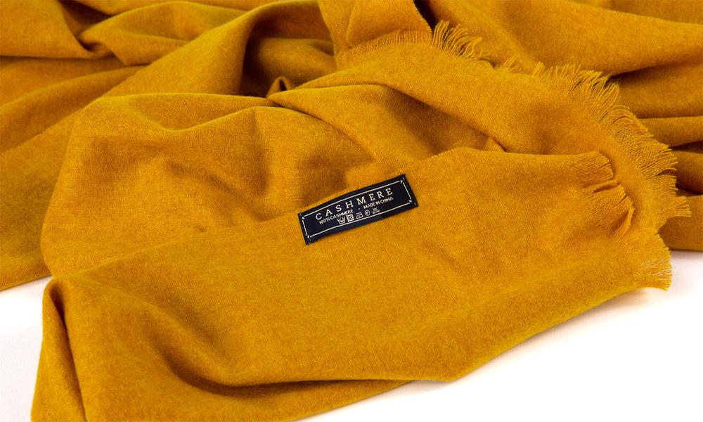 Mustard   cashmere scarf   web3
