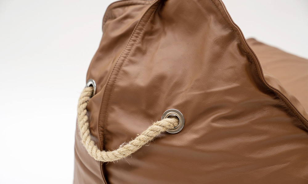 Brown   leather bean bag   1359  web2