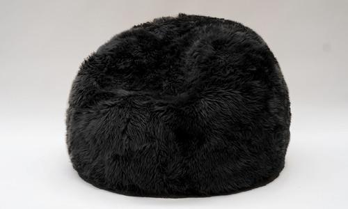 Black   new zealand sheepskin bean bag   1358  web1
