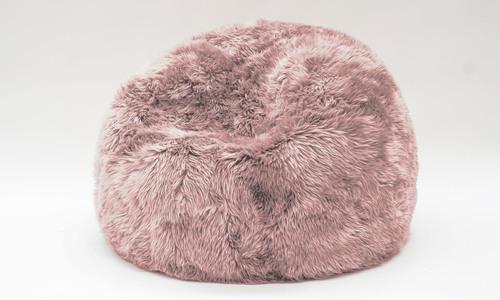 Pink   new zealand sheepskin bean bag   1358  web1