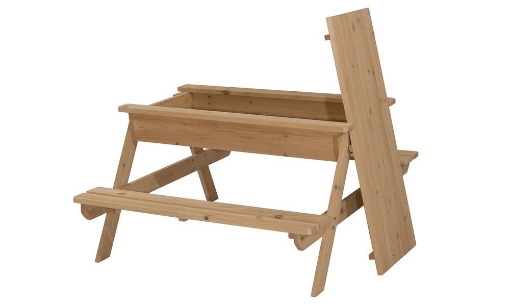Childrens picnic table with sandbox   1396  web1