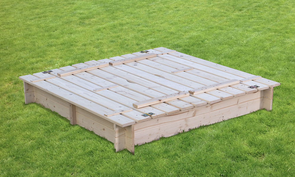Wooden sandpit with seats   cover   1397  web3