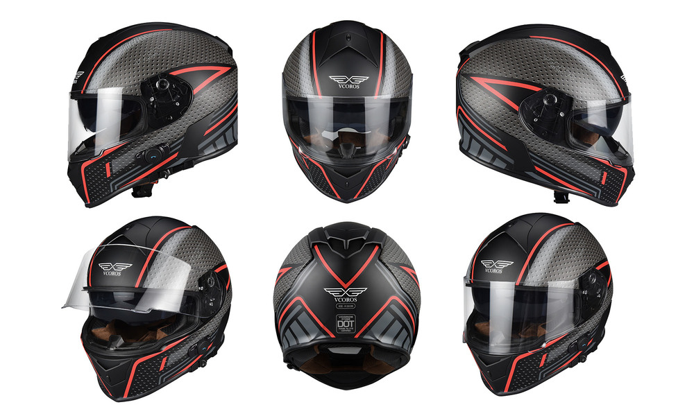 1275   integrated bluetooth motorcycle full face helmet   red storm  web7