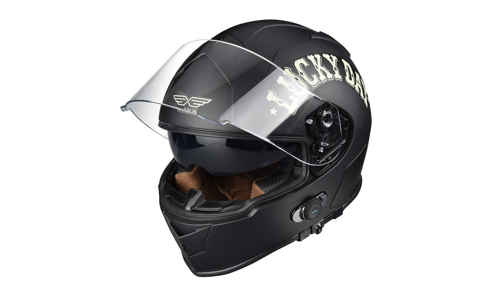 1275   integrated bluetooth motorcycle full face helmet   lucky day  web1