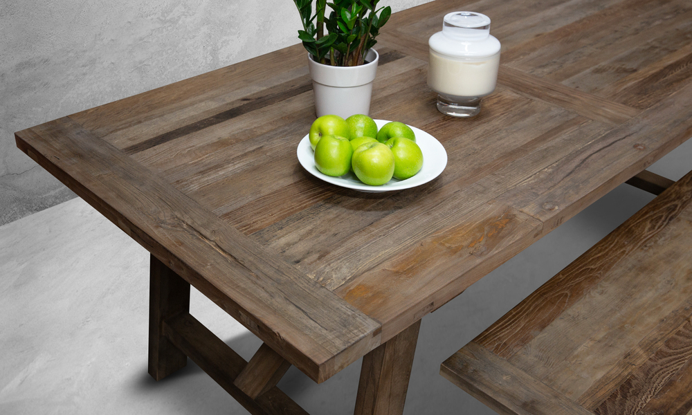 Container Door Ltd Recycled Elm Dining Table 11