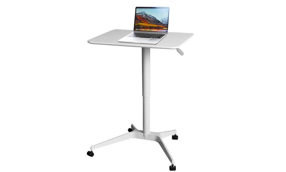 Pneumatic sit stand mobile desk   web1 %282%29