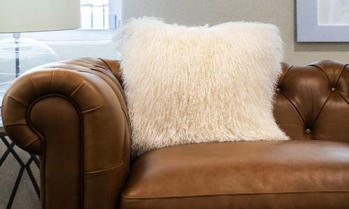 Tibetan sheepskin cushion   1320  web1