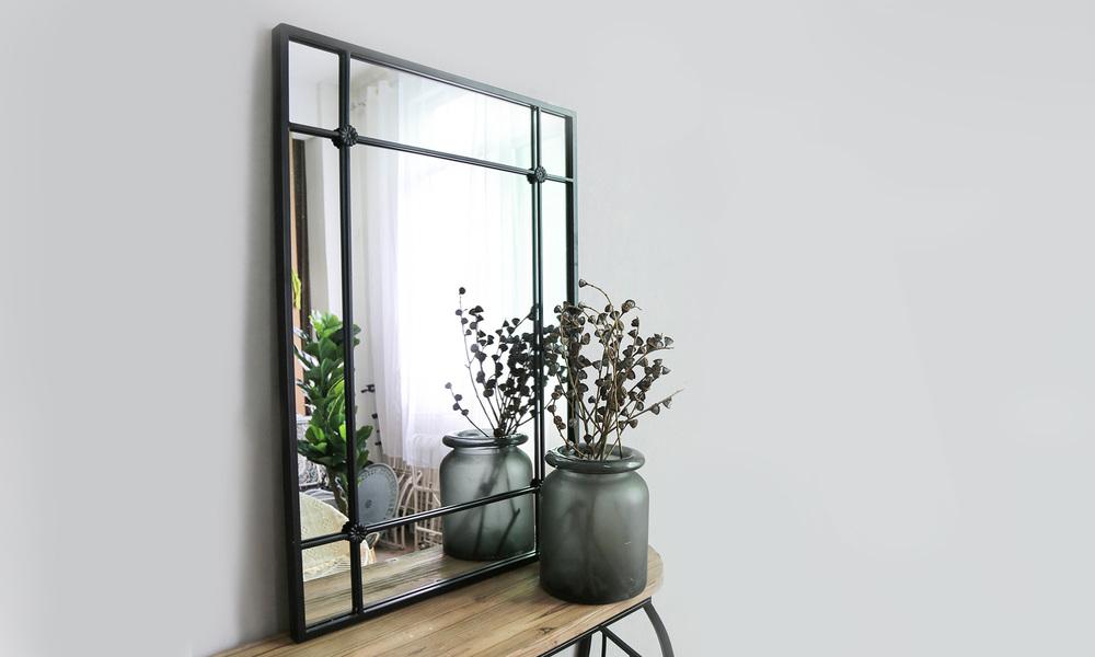 Iron framed mirror   web1