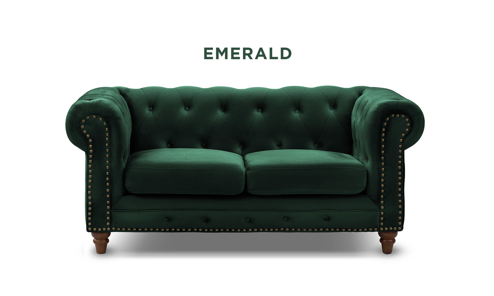 Emerald   kensington velvet button 2 seater sofa   web1