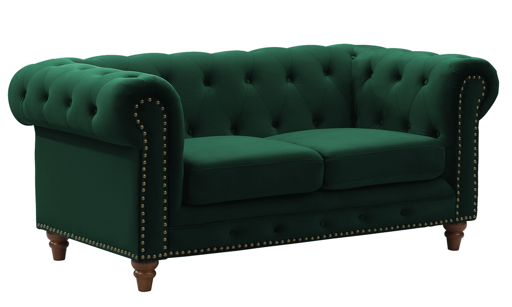 Kensington velvet button 2 seater sofa   web1