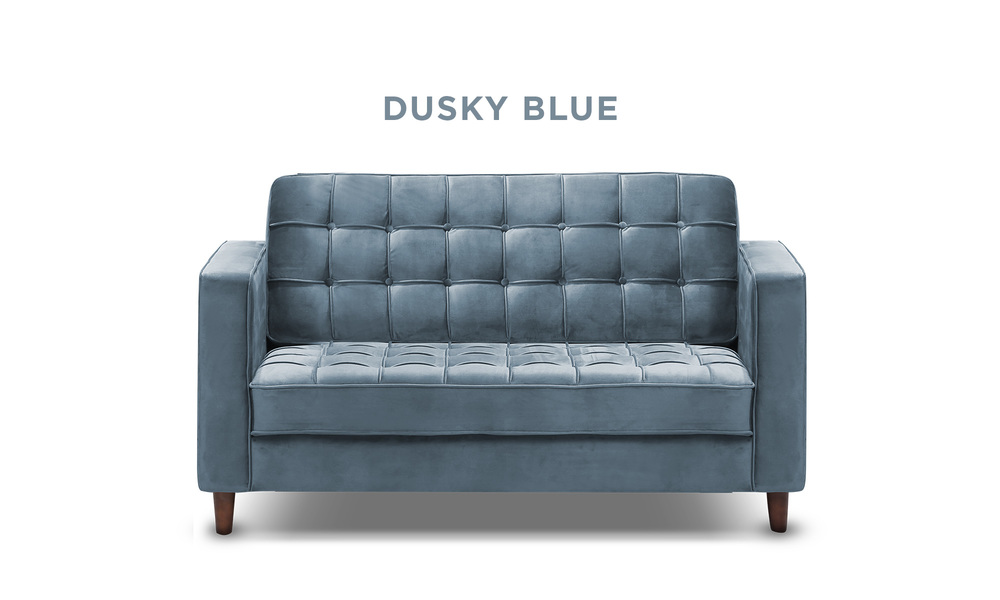 Dusky blue   knightly velvet 2 seater couch   web1