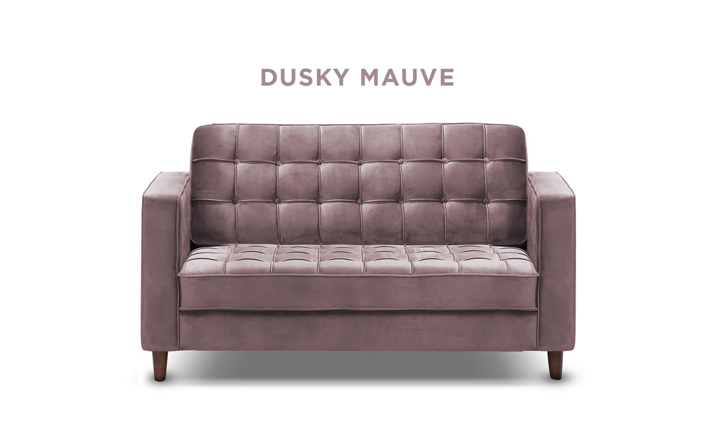 Dusky mauve   knightly velvet 2 seater couch   web1