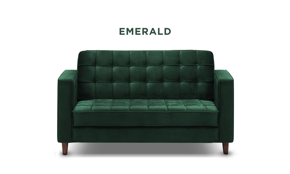 Emerald   knightly velvet 2 seater couch   web1