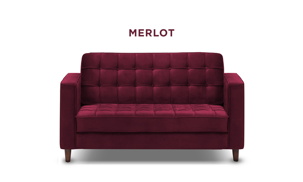 Merlot   knightly velvet 2 seater couch   web1