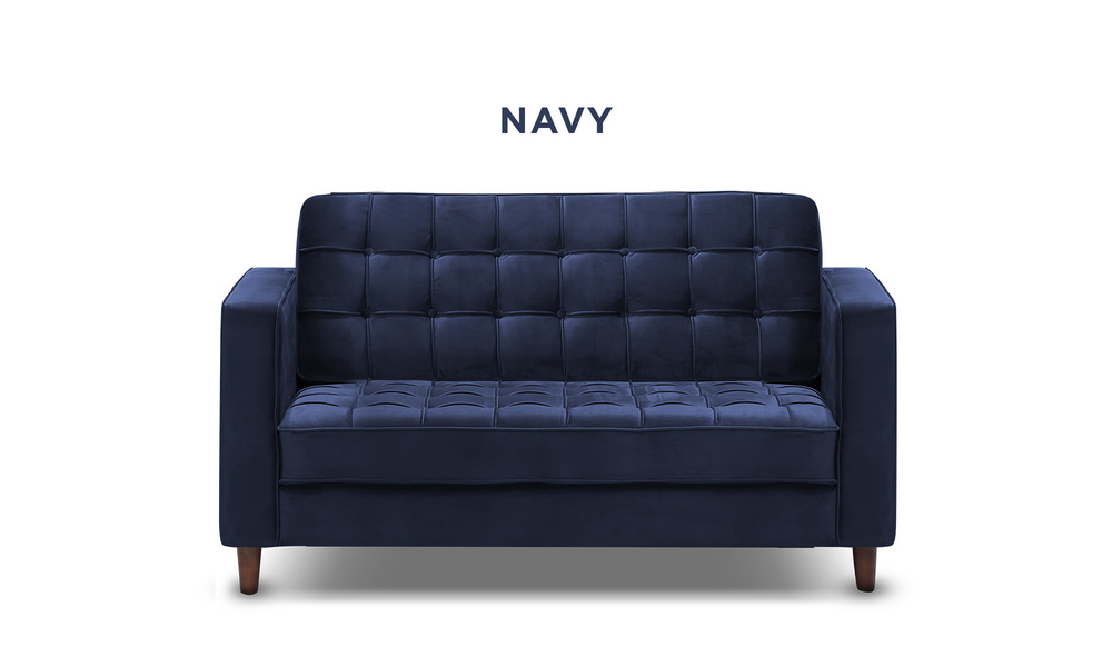 Navy   knightly velvet 2 seater couch   web1