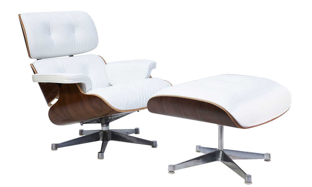 White    replica eames lounge chair   ottoman   web1