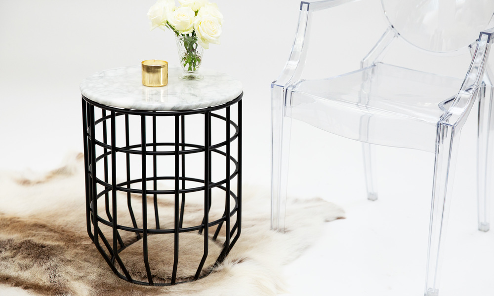 Genuine marble top wire table   web1