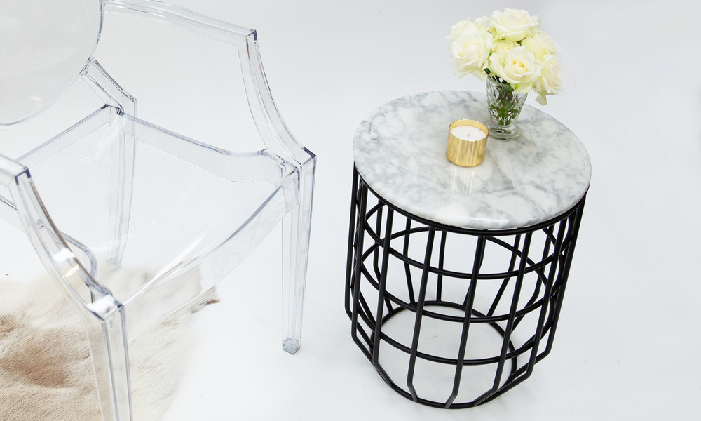 Genuine marble top wire table   web2