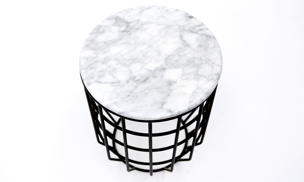 Genuine marble top wire table   web3