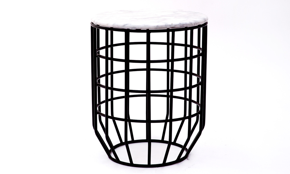 Genuine marble top wire table   web4