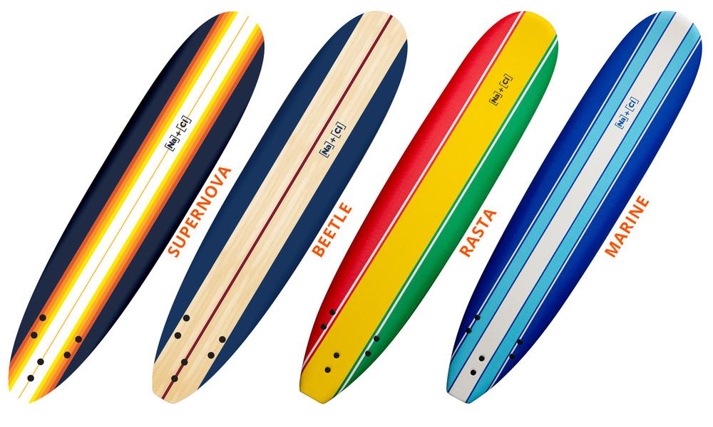 Soft surfboard striped   supernova  beetle  rasta  marine   web1