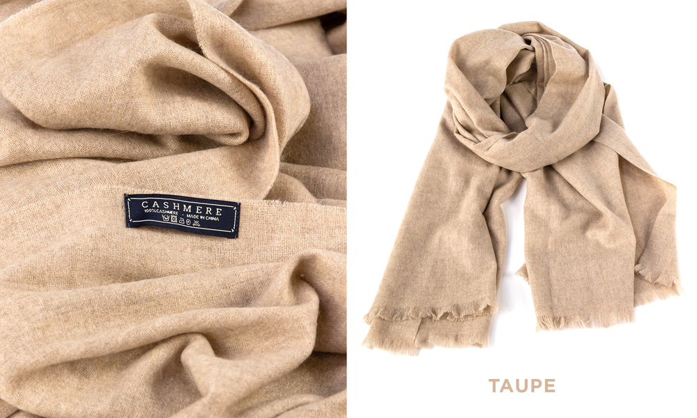 Taupe   cashmere scarf   web1