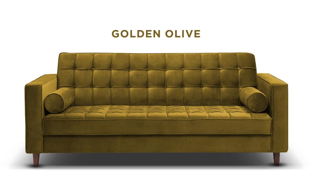 Golden olive   knightly velvet couch   web1