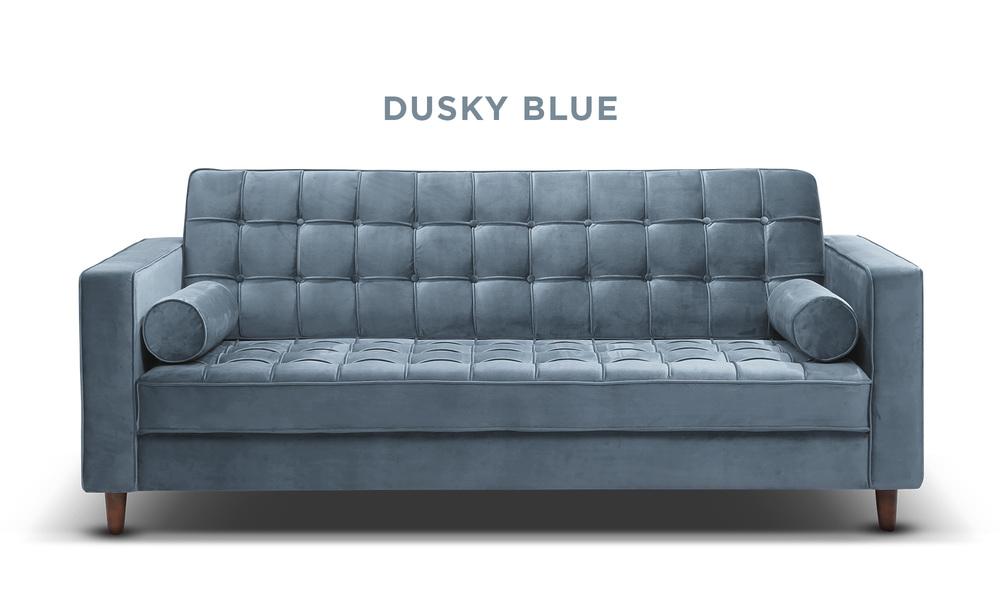 Dusky blue   knightly velvet couch   web1