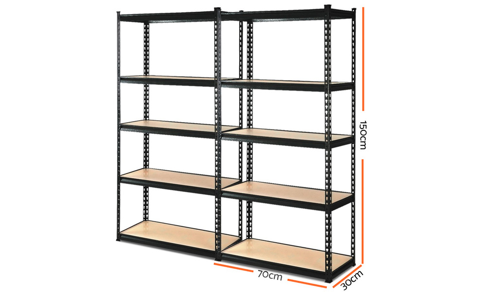 Set of 2   giantz 5 tier industrial shelving unit   web1