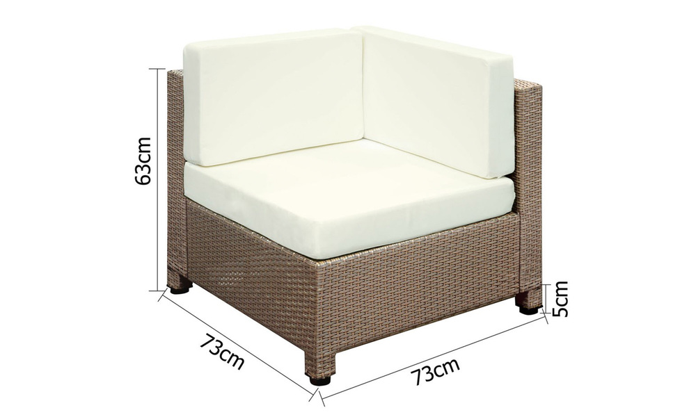 Gardeon 6 piece outdoor wicker sofa set   brown   web3