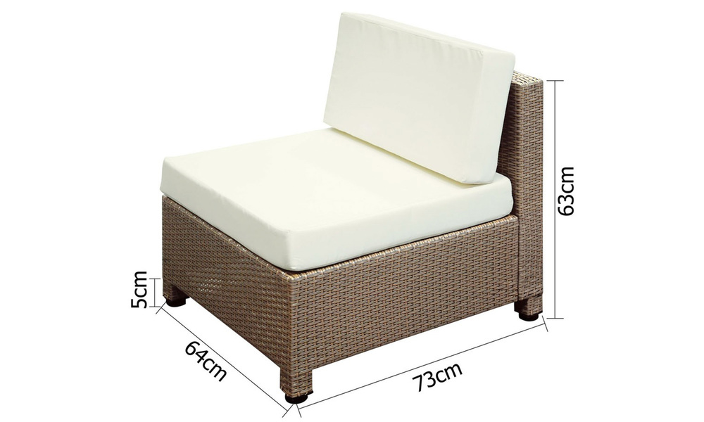 Gardeon 6 piece outdoor wicker sofa set   brown   web4