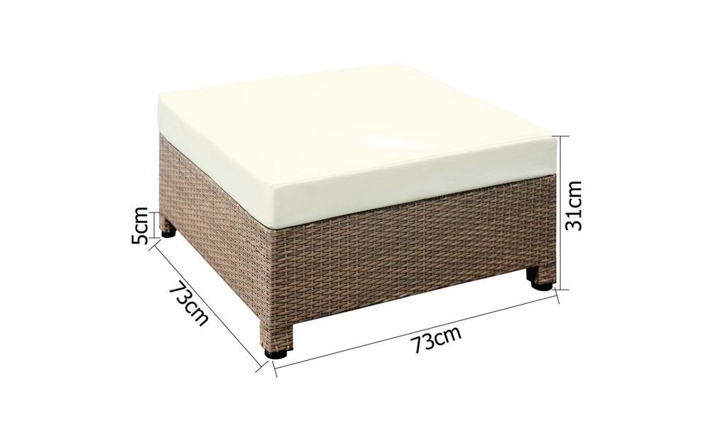 Gardeon 6 piece outdoor wicker sofa set   brown   web5