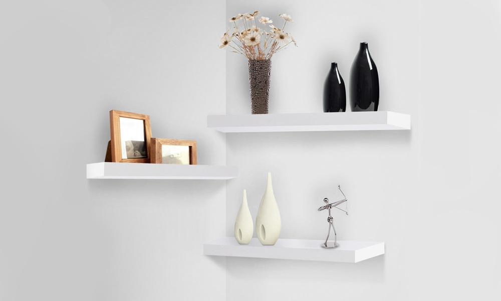 Artiss 3 piece floating wall shelves   web1