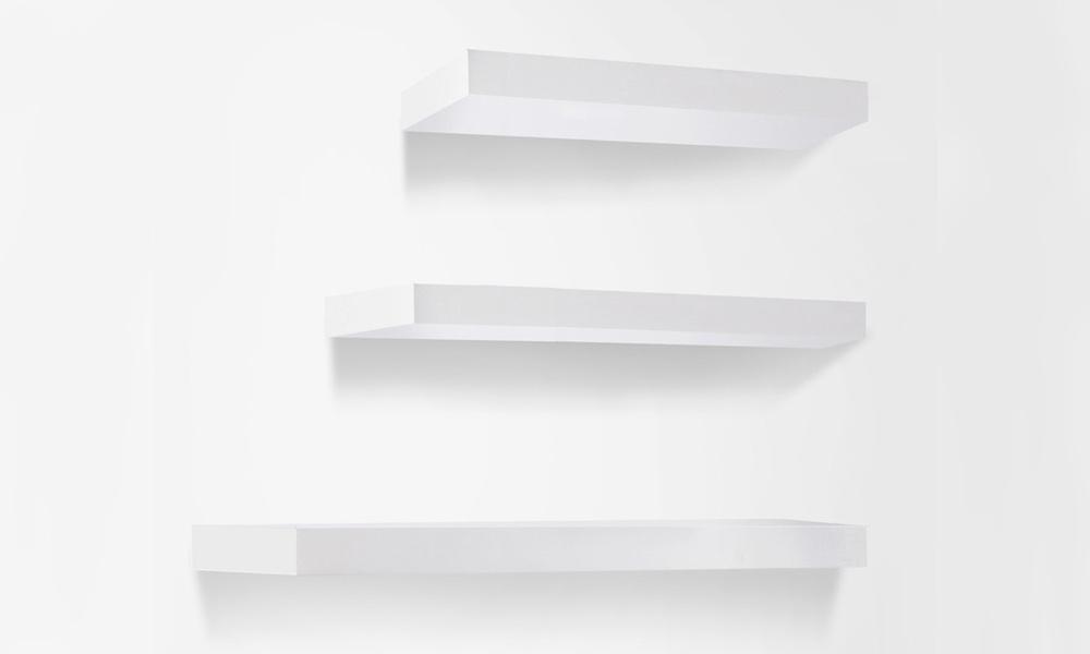 Artiss 3 piece floating wall shelves   web2