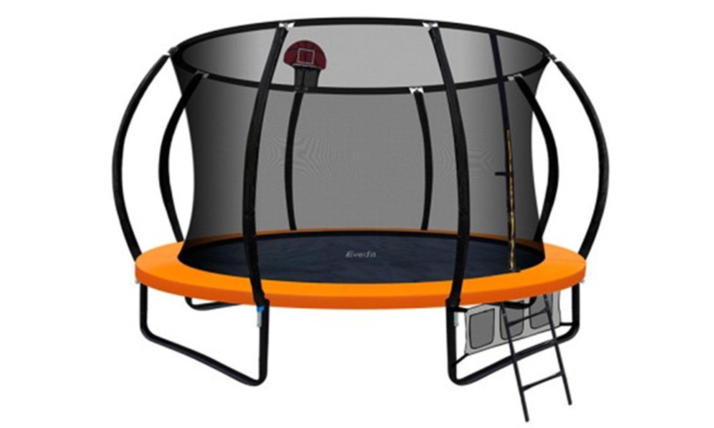 Everfit 12ft trampoline with basketball hoop   web1