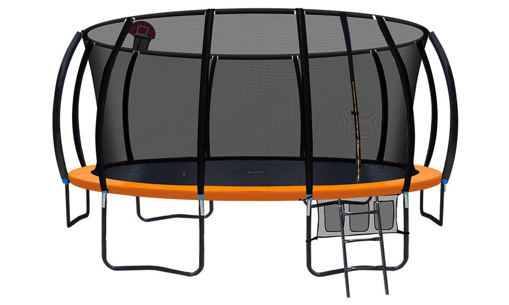 Everfit 16ft trampoline with basketball hoop   web1