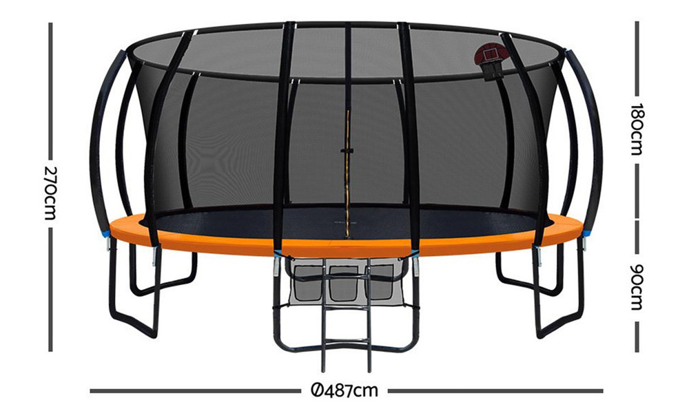 Everfit 16ft trampoline with basketball hoop   web2 copy