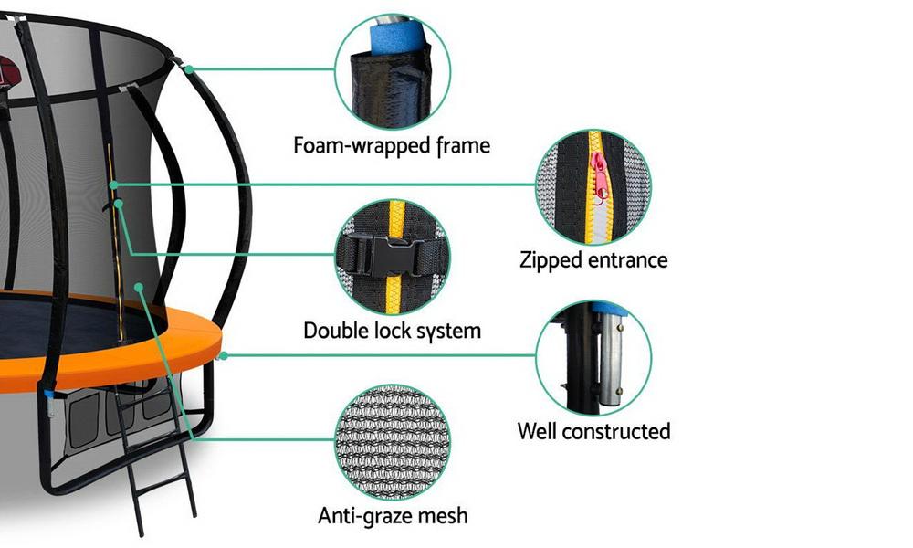 Everfit trampoline with basketball hoop   web1