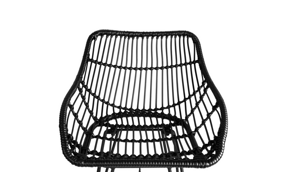 Black   artiss set of 2 pe wicker bar stools   web5
