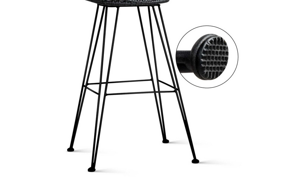 Black   artiss set of 2 pe wicker bar stools   web8