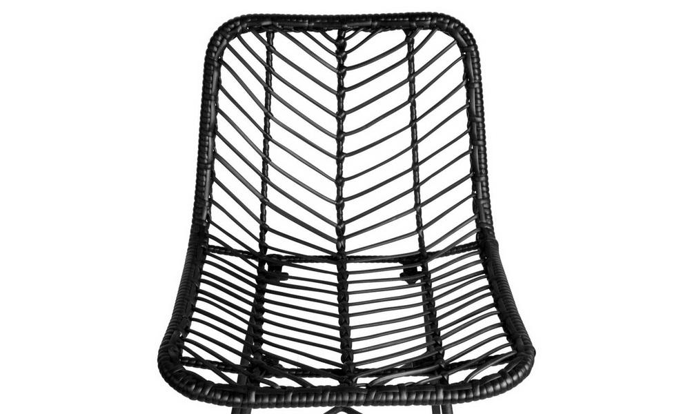 Black   artiss set of 2 chevron pe wicker bar stools   web5