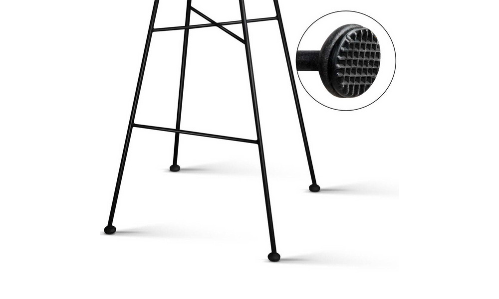 Black   artiss set of 2 chevron pe wicker bar stools   web7