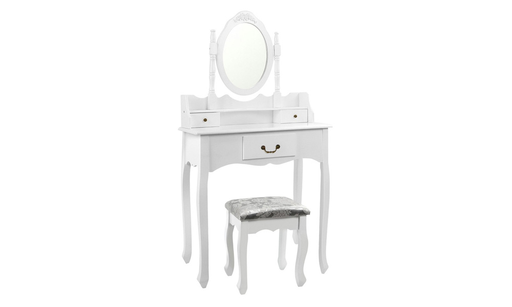 Artiss 3 drawer dressing table with mirror   web1